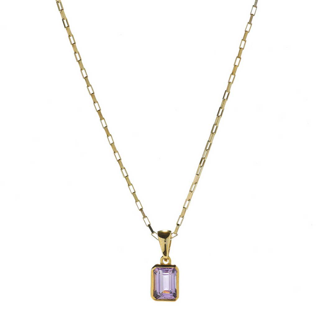Hope Amethyst Gold Necklace
