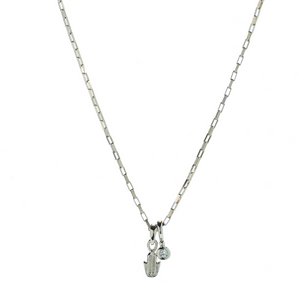 Hope Hamsa & White Topaz Necklace