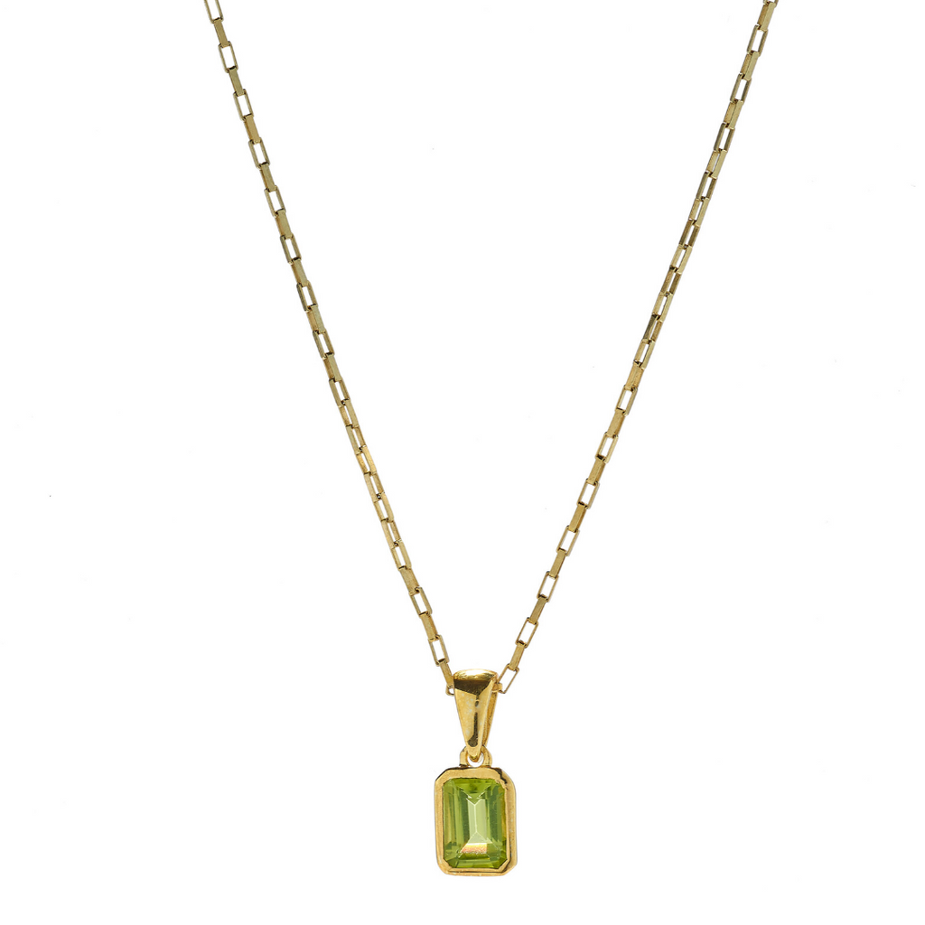 Hope Peridot Gold Necklace