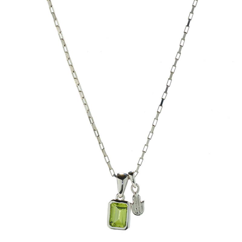 Hope Peridot & Hamsa Necklace