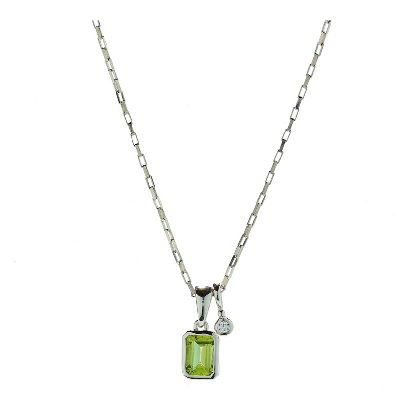 Hope Peridot & White Topaz Necklace