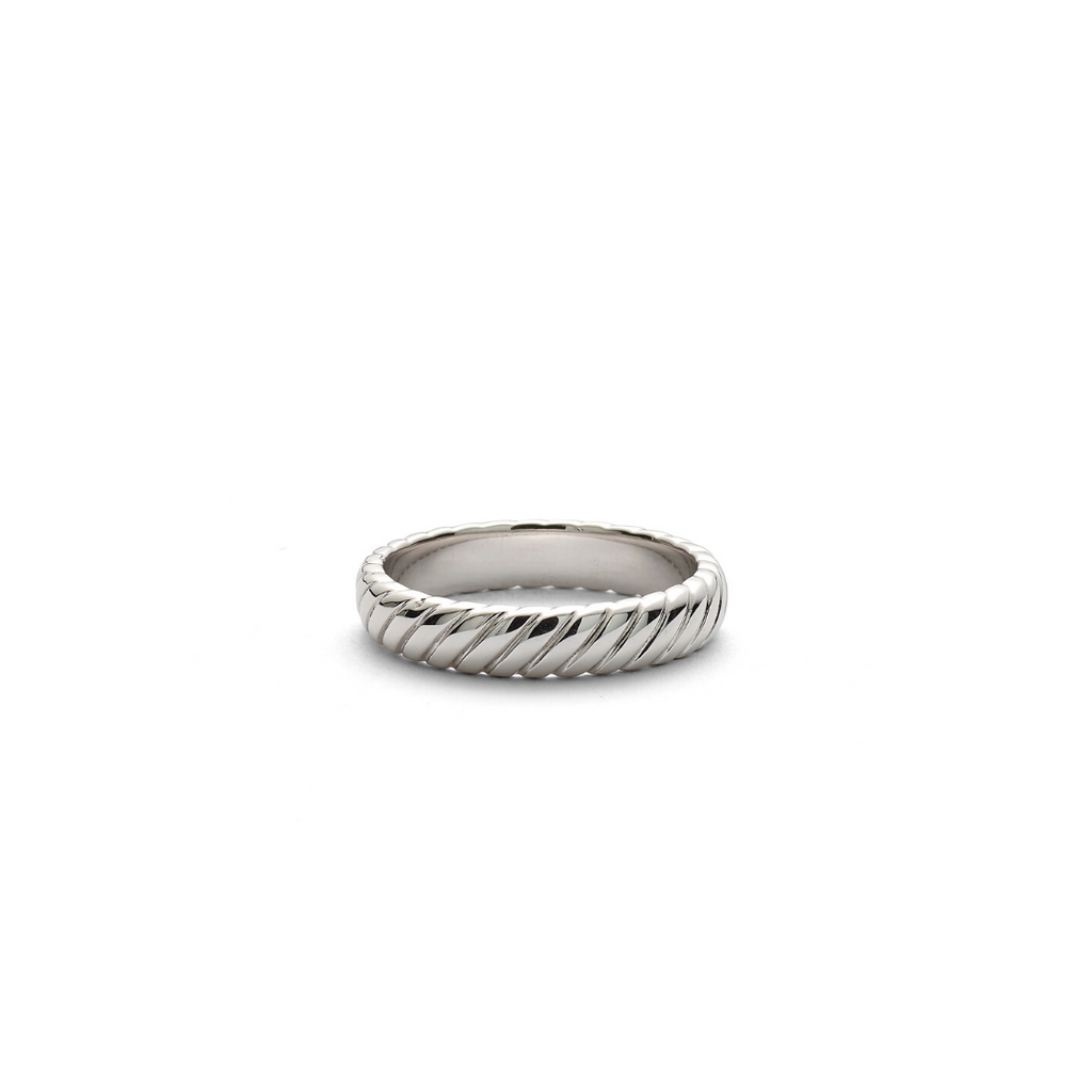 Hope Striped Band Ring