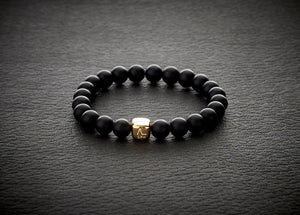 ColorUp Onyx Matte with 18K Gold Cube - ALEXANDER LYNGGAARD CPH