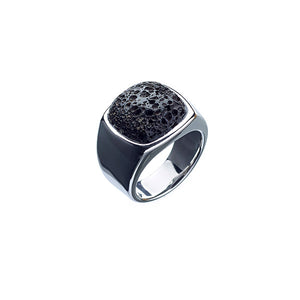 ALEXANDER LYNGGAARD CPH - Hope Signet Ring with Volcanic Lava Rock