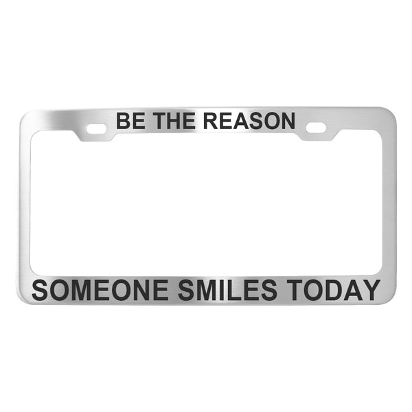 Funny Phrase License Plate Frames - Stainless Steel