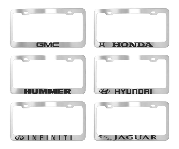 Factory License Plate Frames - Stainless Steel