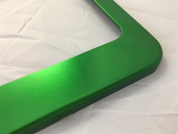 Factory License Plate Frames - Anodized Aluminum