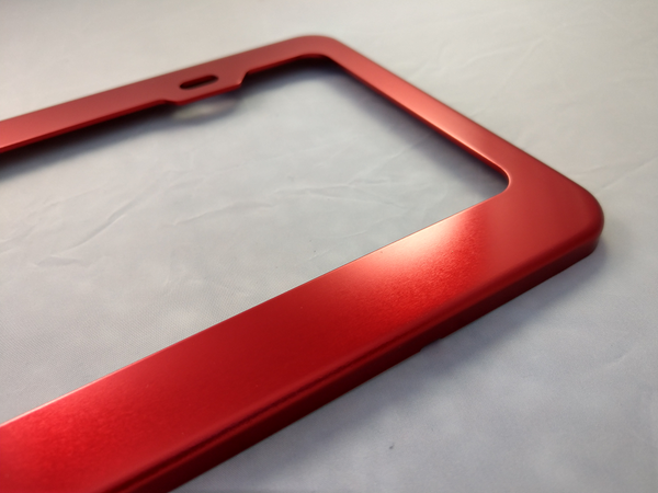 Pet License Plate Frames - Anodized Aluminum