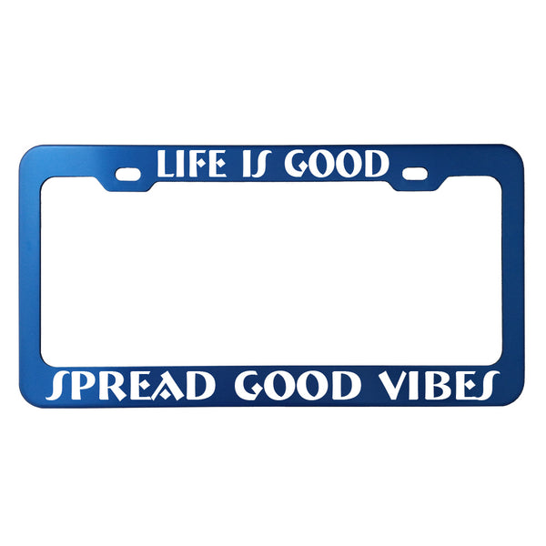 Funny Phrase License Plate Frames - Anodized Aluminum