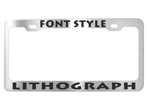 Custom License Plate Frames - Stainless Steel