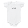 'b is for bestie' Onesie - Milk