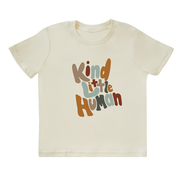 'Kind Little Human' Tee - Cream