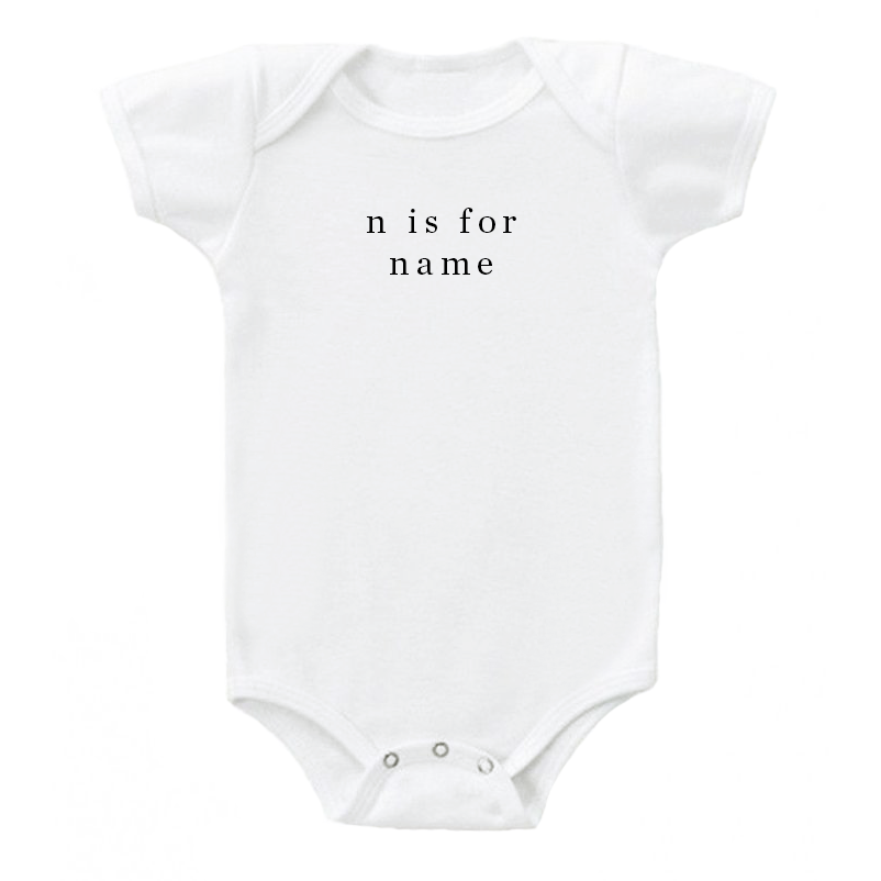'N is for Name' Onesie