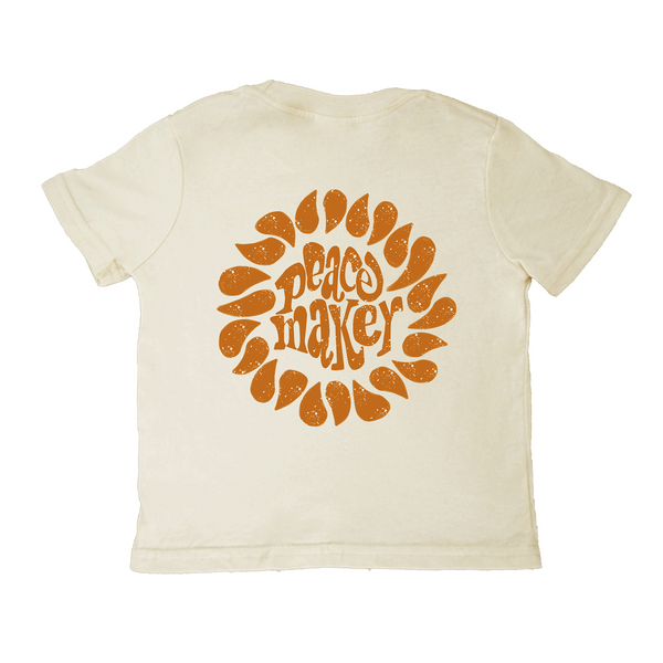 'Peacemaker' Toddler Tee - Cream