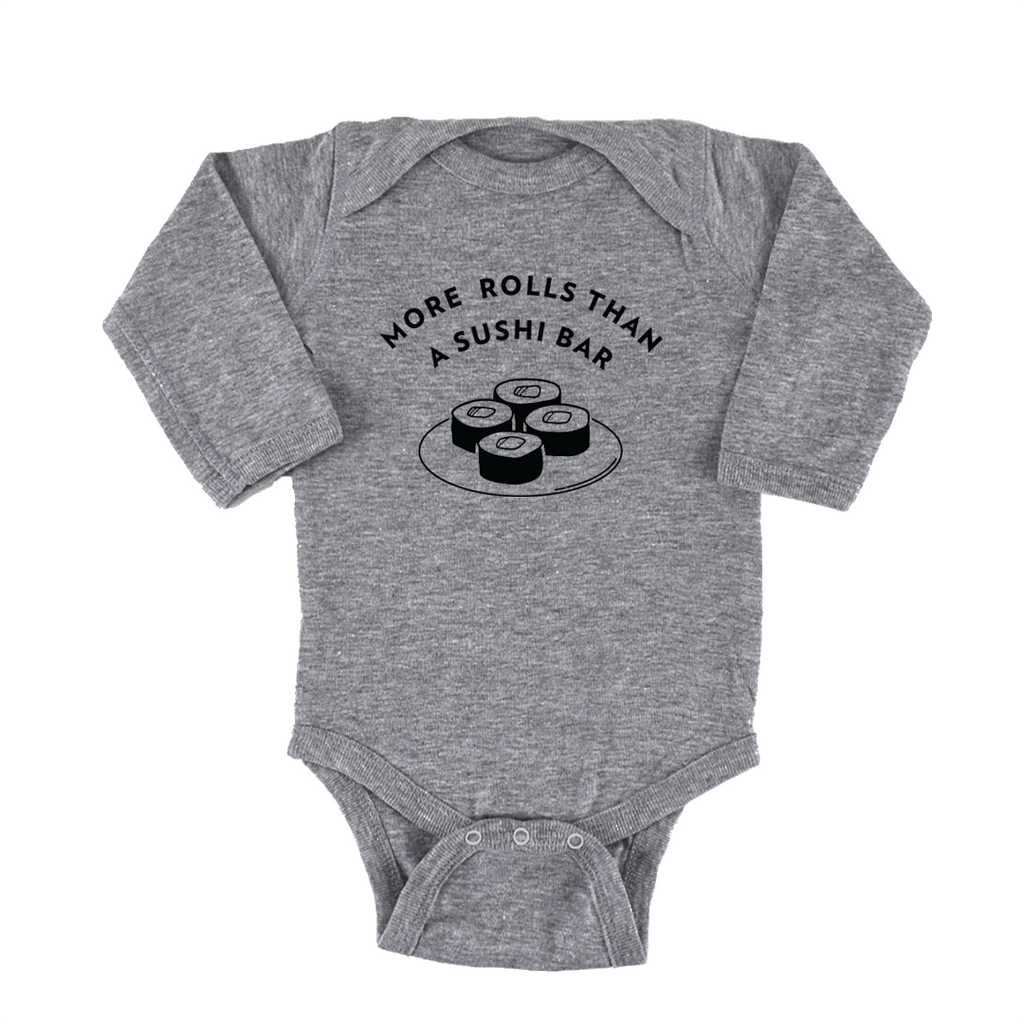 'Sushi Rolls' Long Sleeve Onesie