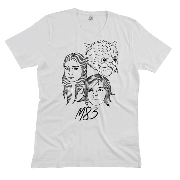 FACES WHITE T-SHIRT