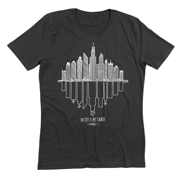 CITY IS MY CHURCH BLACK T-SHIRT