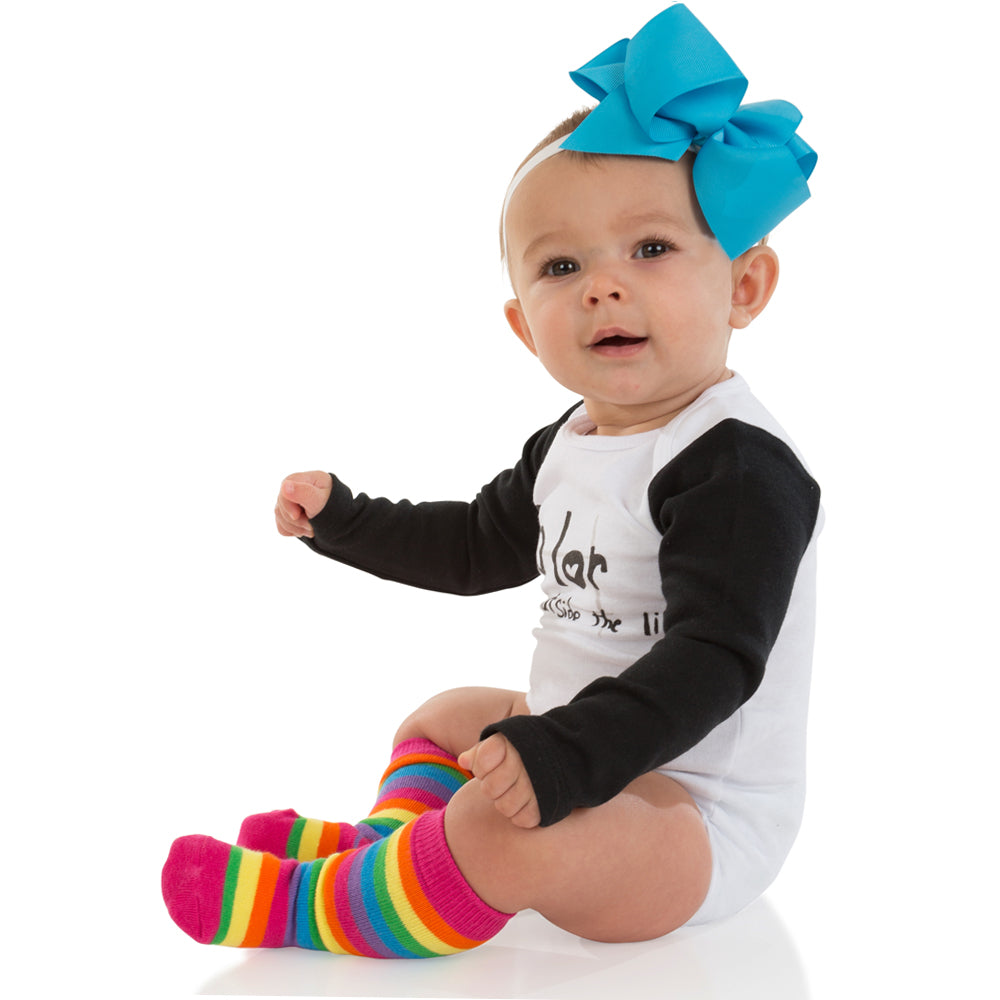 Bright Rainbow Stripe Socks and Rainbow Tube Socks