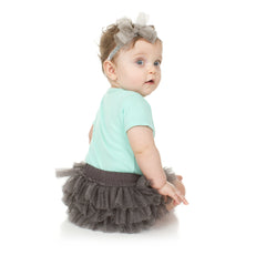 Charcoal Sparkle Tutu Diaper Cover