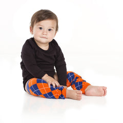 Team Blue and Orange Argyle Leg Warmers