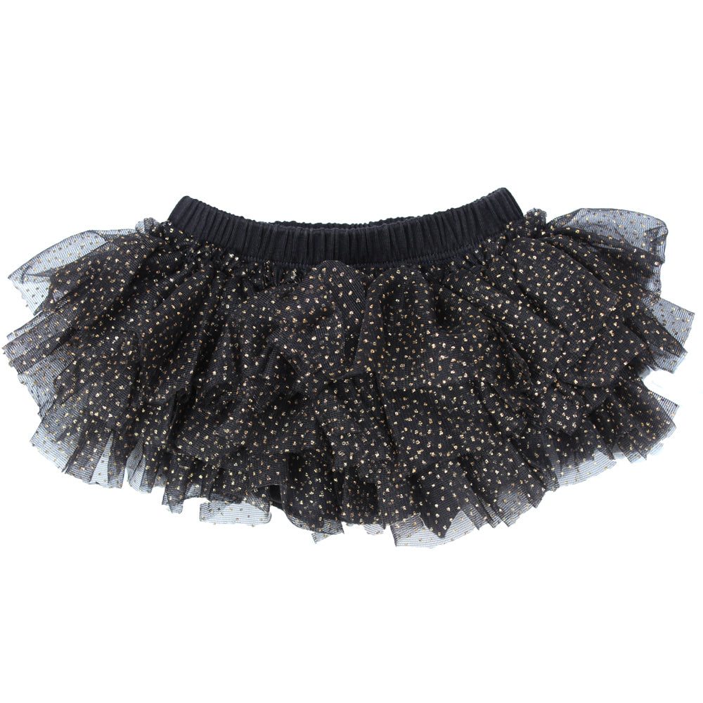 Black & Gold Chiffon Tutu Diaper Cover