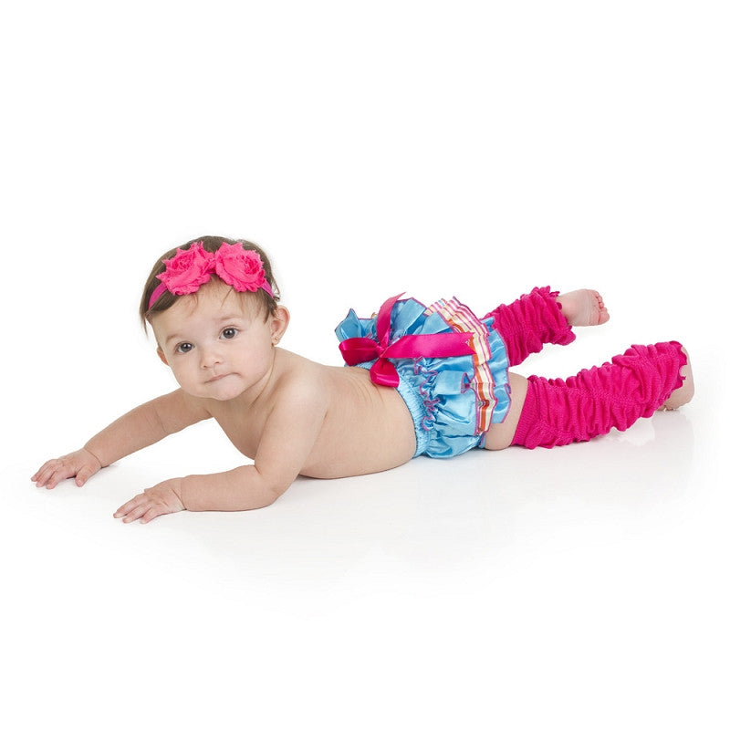 Beach Party Ruffle Satin Diaper Cover