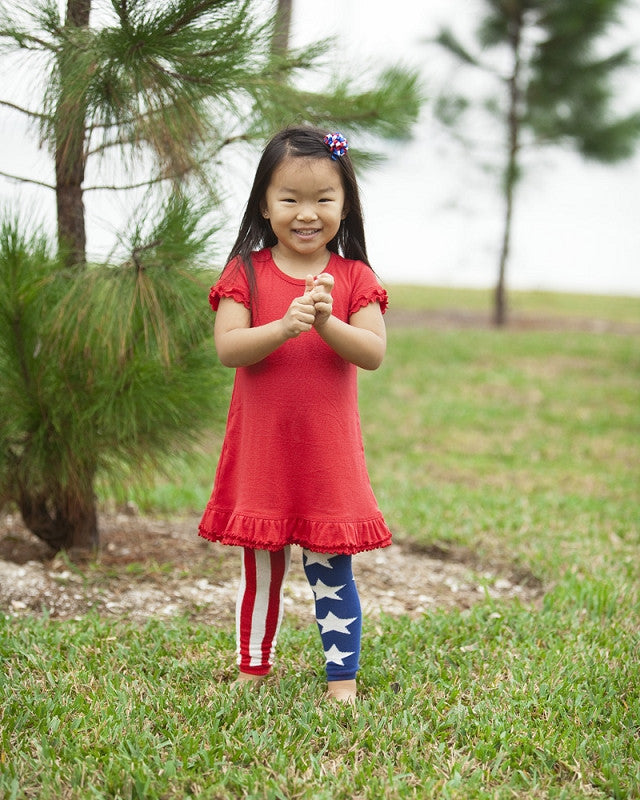 American Flag Footless Tights