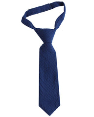Navy Blue Seersucker Neck Tie