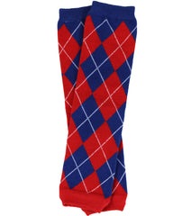 Team Red, White and Blue Argyle Leg Warmers
