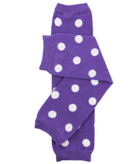 Purple Dot Leg Warmers