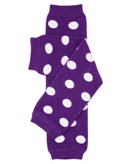 Purple Polka Dot Leg Warmers