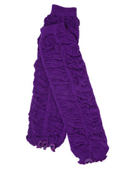 Purple Rouched Leg Warmers