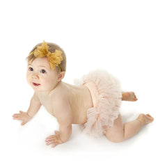Peach Sparkle Tutu Diaper Cover