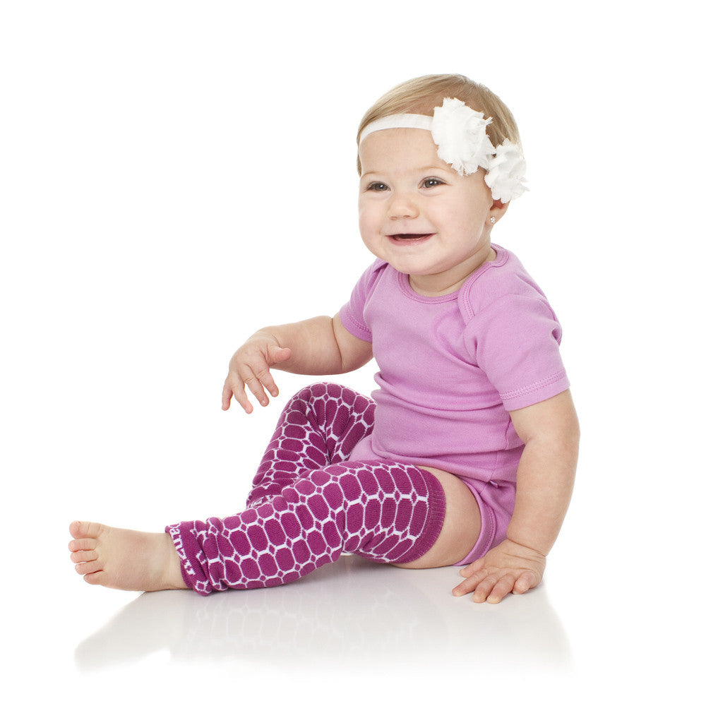 Plum Honeycomb Organic Leg Warmers