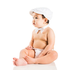 White Twill Diaper Cover