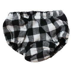 Black and White Buffalo Plaid Diaper Cover