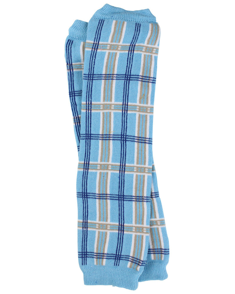 Blue Plaid Leg Warmers