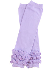 Heavenly Lavender Triple Ruffle Leg Warmers