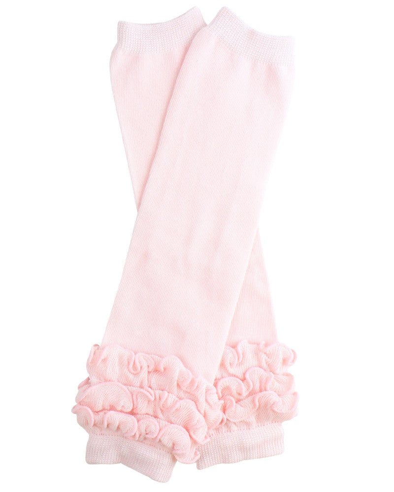 Heavenly Pink Triple Ruffle Leg Warmers