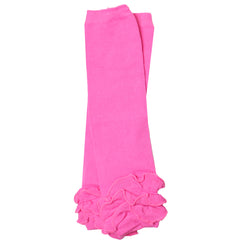 Hot Pink Triple Ruffle Leg Warmers