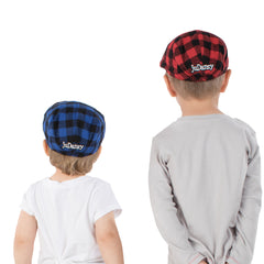 Blue Buffalo Plaid Cabbie Hat