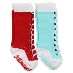 Girl Knee High Lace Up Socks 2-Pack
