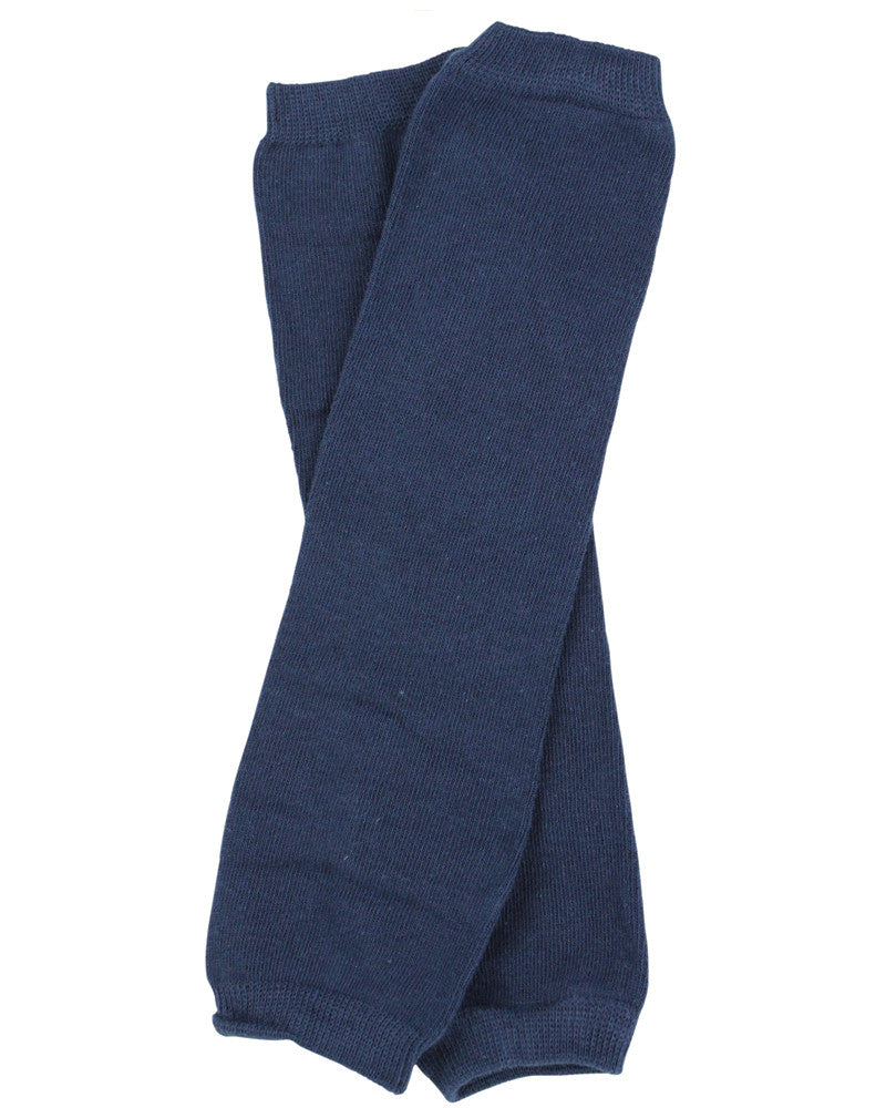 Solid Navy Leg Warmers