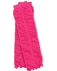 Hot Pink Rouched Leg Warmers