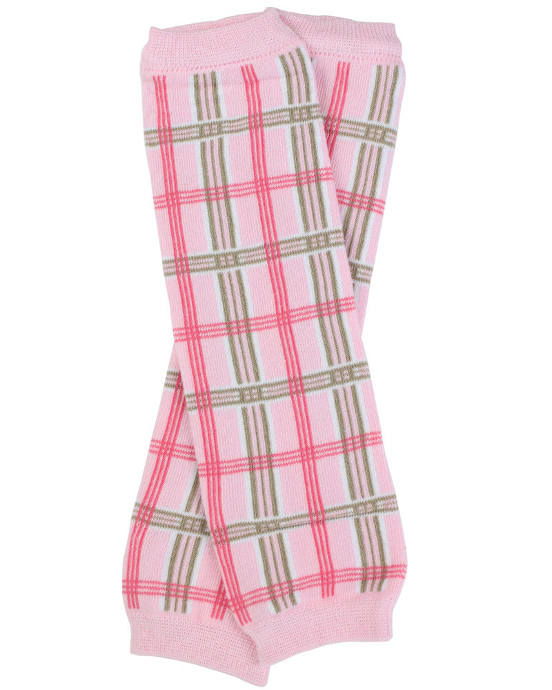 Pink Plaid Leg Warmers