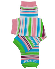 Organic Playful Stripe Leg Warmers