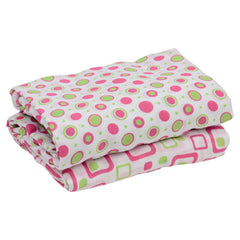Hot Pink and Lime Muslin Blankets