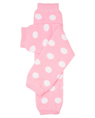 Powder Pink Polka Dot Leg Warmers