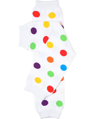 Rainbow Polka Dot Leg Warmers