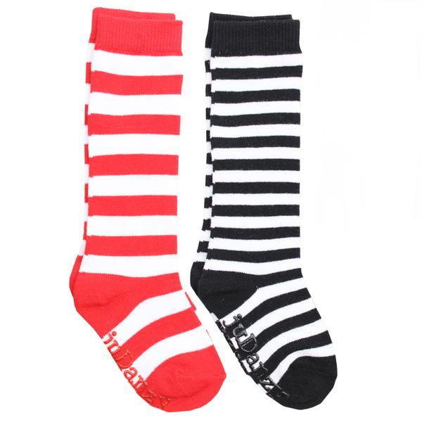 Knee High Red and Black Stripe Socks
